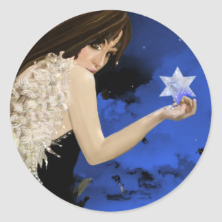 The Blue Star! Classic Round Sticker
