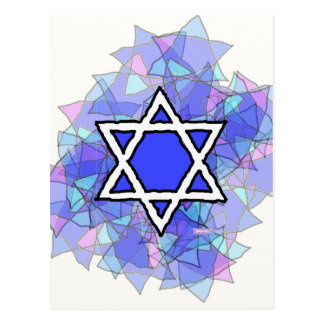 The Blue Star of David. Postcard