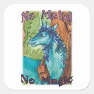 The Blue Unicorn No Metal No Magic Stickers