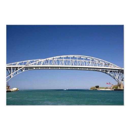 The Blue Water Bridge is a twin-span bridge Photo Art