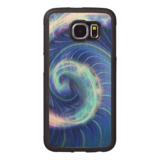 The Blue WAVE Wood Phone Case