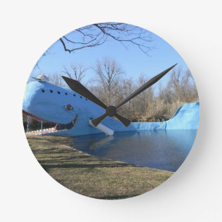 The Blue Whale of Catoosa Round Clock