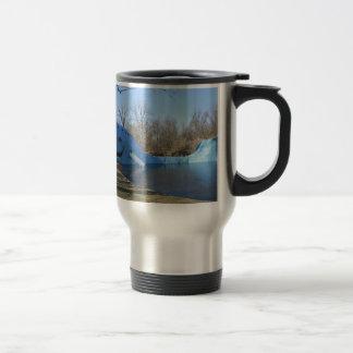 The Blue Whale of Catoosa Travel Mug
