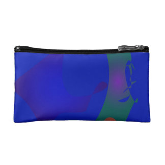 The Blue World Map Cosmetic Bags