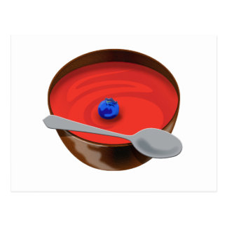 The Blueberry in a Bowl of Tomato Soup - Austin, T Postcard
