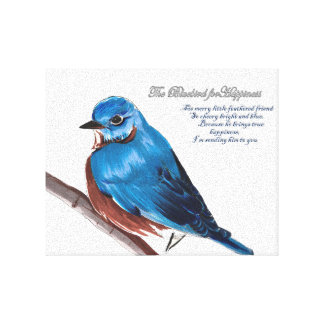 The Bluebird For Happiness Canvas Print