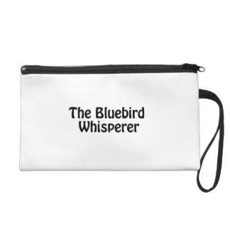 the bluebird whisperer wristlet purses