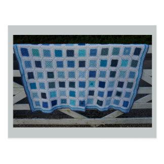 The Blues Crochet Blanket Postcard