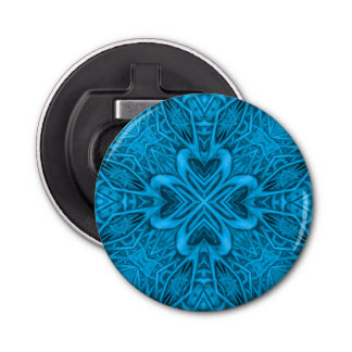 The Blues Kaleidoscope Magnetic Bottle Openers