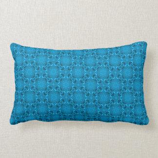 The Blues Kaleidoscope Pattern Lumbar Pillows