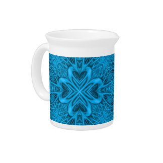 The Blues Kaleidoscope  Porcelain Pitchers