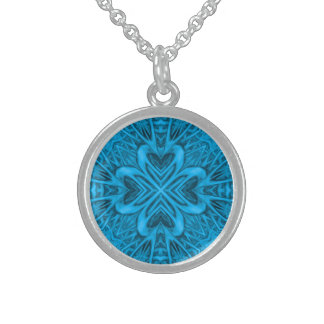 The Blues Kaleidoscope   Sterling Silver  Necklace