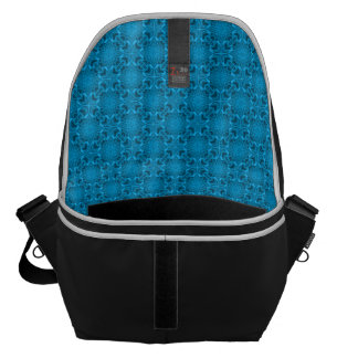 The Blues Tiled Kaleidoscope  Courier Bags