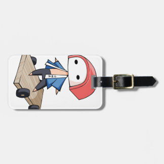 The bo of high class densely it is so English Luggage Tag