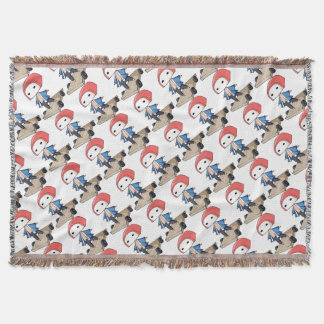 The bo of high class densely it is so English Throw Blanket