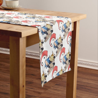 The bo of legend densely it is so English story Short Table Runner