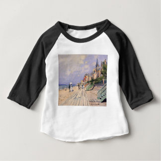 The Boardwalk at Trouville Claude Monet Baby T-Shirt