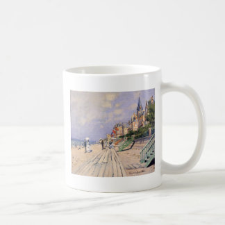 The Boardwalk at Trouville Claude Monet Coffee Mug