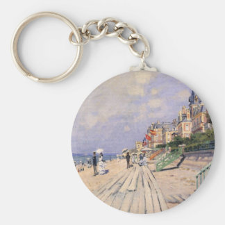 The Boardwalk at Trouville Claude Monet Key Ring