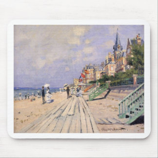 The Boardwalk at Trouville Claude Monet Mouse Pad