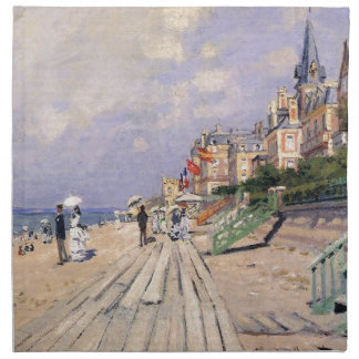 The Boardwalk at Trouville Claude Monet Napkin