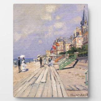 The Boardwalk at Trouville Claude Monet Plaque
