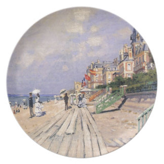 The Boardwalk at Trouville Claude Monet Plate