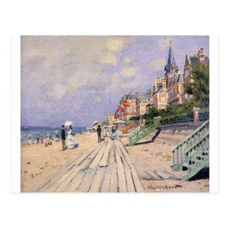 The Boardwalk at Trouville Claude Monet Postcard