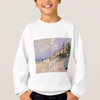 The Boardwalk at Trouville Claude Monet Sweatshirt
