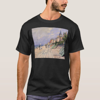 The Boardwalk at Trouville Claude Monet T-Shirt