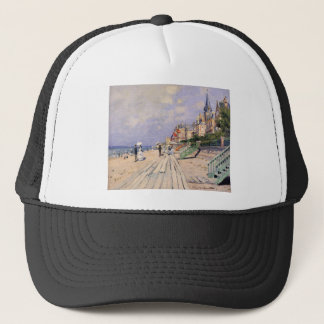 The Boardwalk at Trouville Claude Monet Trucker Hat