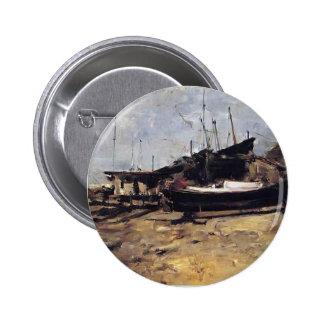 The Boat Yard by John Henry Twachtman Button
