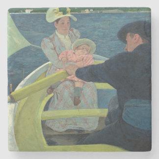 The Boating Party by Mary Cassatt Stone Coaster
