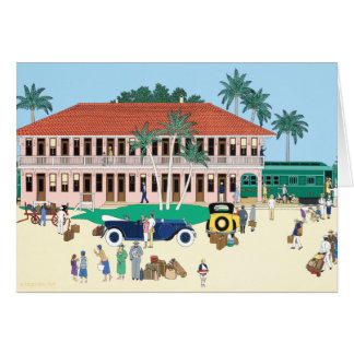 The Boca Grande Railroad Station 1928 Card