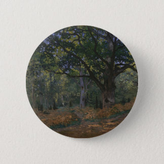The Bodmer Oak, Fontainebleau Forest 6 Cm Round Badge