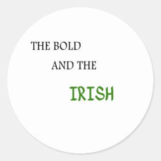 The Bold and the Irish Round Sticker