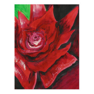 The Bold Red Rose Art Cards Postcard