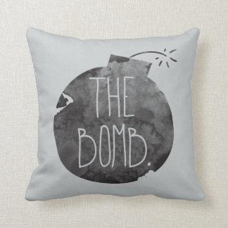 The bomb. throw pillow