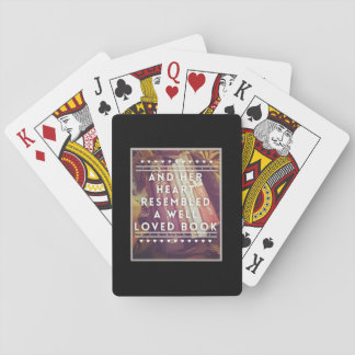 The Book Lover Playing Cards