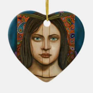 The Book Of Secrets Ceramic Heart Decoration