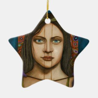 The Book Of Secrets Ceramic Star Decoration