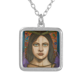 The Book Of Secrets Silver Plated Necklace