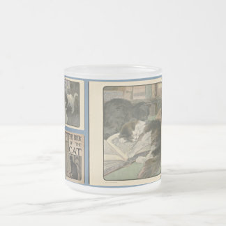 The Book Of The Cat frosted glass mug