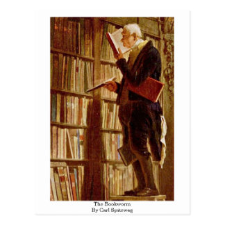 The Bookworm By Carl Spitzweg Postcard