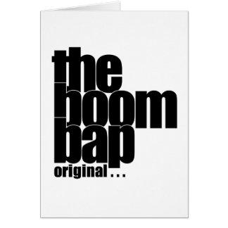 The Boom Bap vertical greeting card