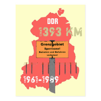 The border of the GDR Postcard