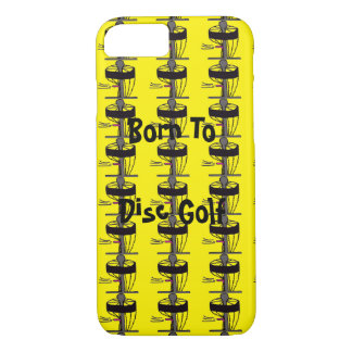 The Born to Disc Golf Iphone cell phone case