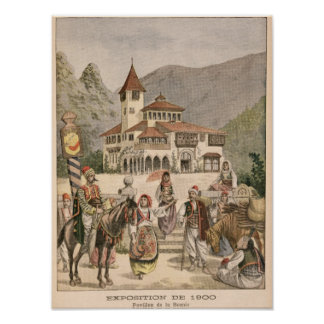 The Bosnian Pavilion at the Universal Exhibition Poster
