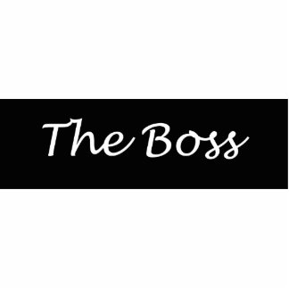 The Boss Acrylic  Pin Photo Sculpture Badge
