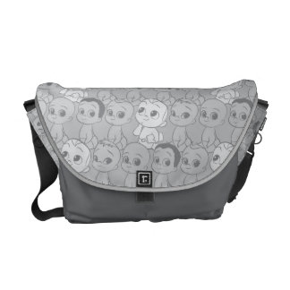 The Boss Baby | Grey Pattern Courier Bag